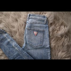 Guess jeans High Waste acid Wash